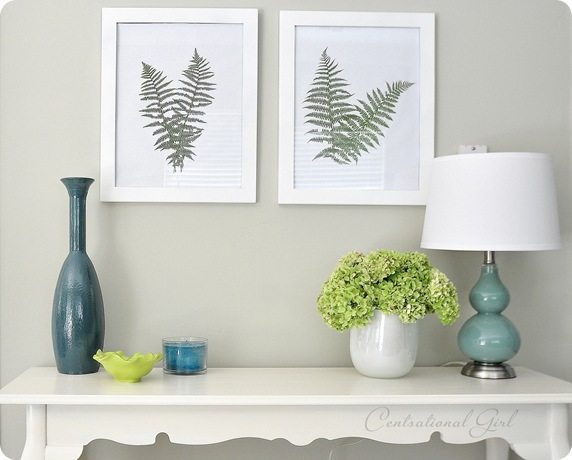 Framed Ferns + Garden Link Party | Centsational Style