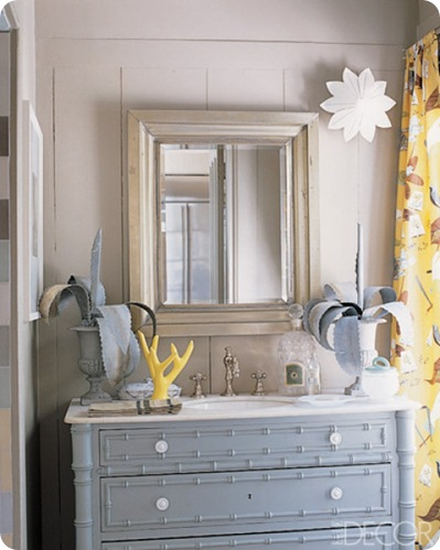 elle decor gray dresser turned sink