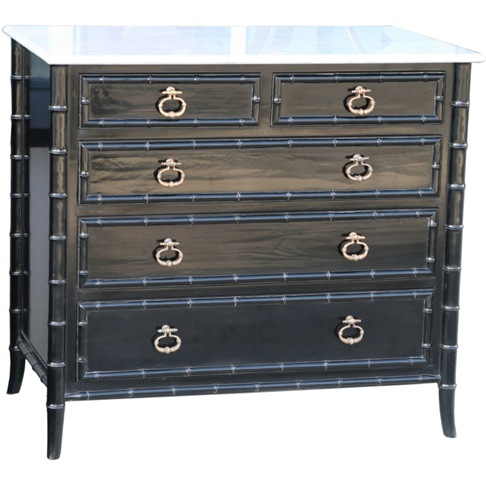 first dibs black bamboo dresser