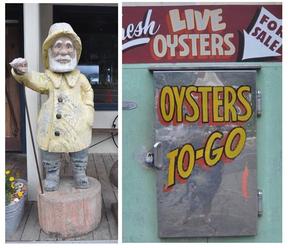 fisherman and oysters to go