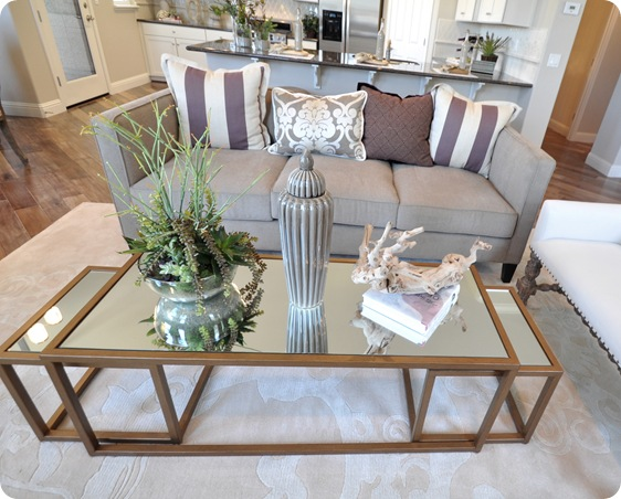 gold nesting tables