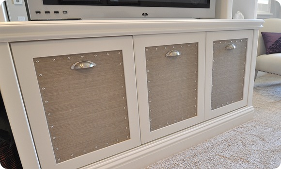 grasscloth on doors