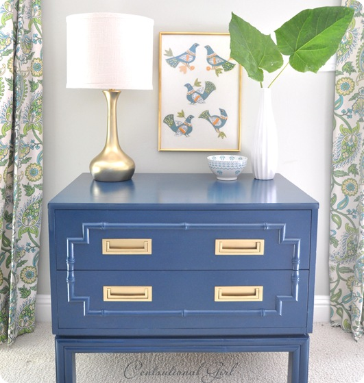 kates blue bamboo chest
