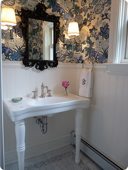 powder room reveal hazardous design via rambling renovators