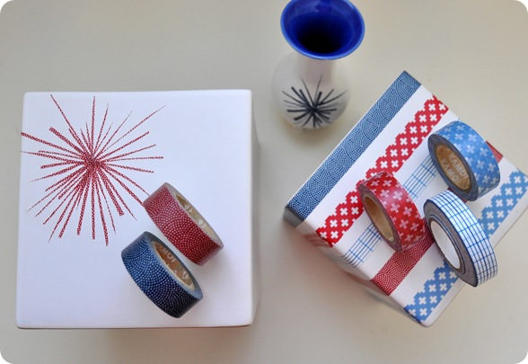 red blue washi tape