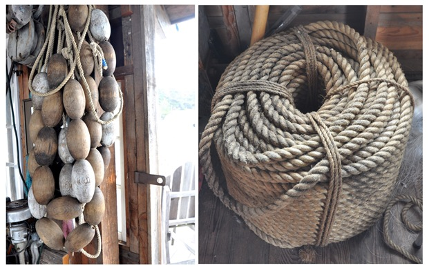 wood buoy and rope
