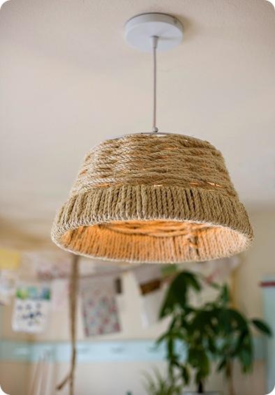 woven rope pendant lamp design sponge