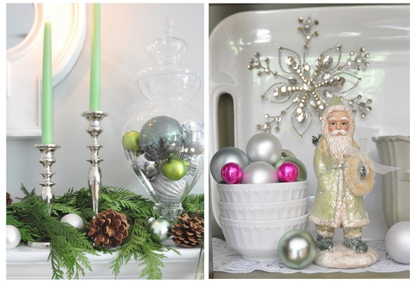 candlesticks and ornaments