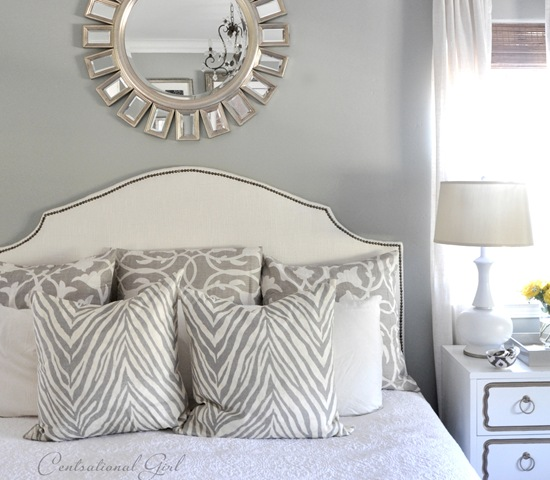 Silver Gray Paint Color for Master Bedrooms 550 x 480