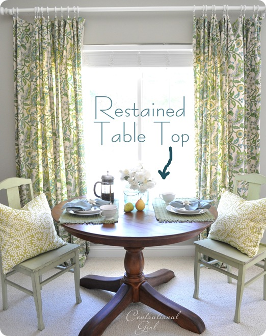 centsational girl restained pedestal table