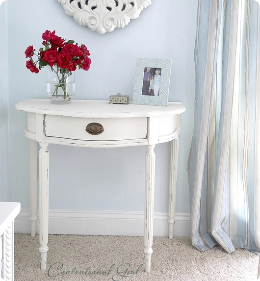 chalk paint console table
