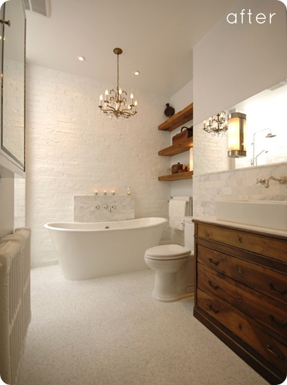 design sponge rustic elegant bathroom