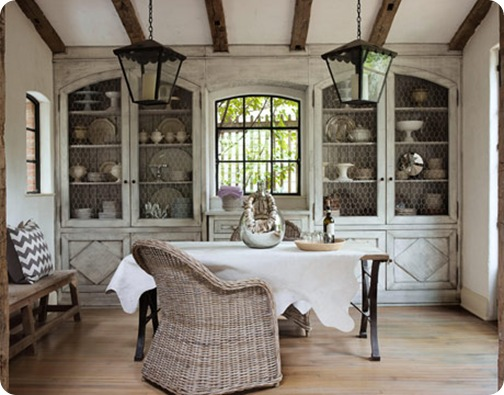house beautiful rustic dining room