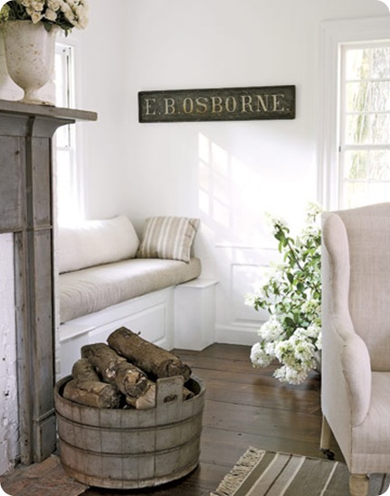 country living window seat