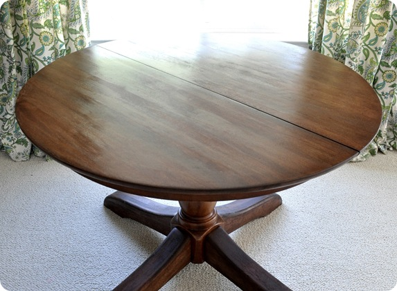dark pedestal table