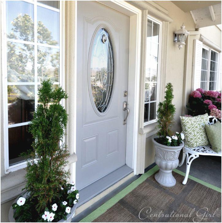 front porch improvements with paint centsational girl. Black Bedroom Furniture Sets. Home Design Ideas