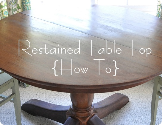 restained table top how to