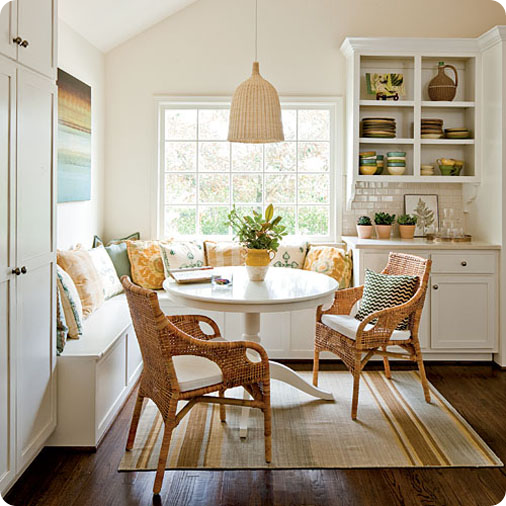 southern living kitchen nook via hookedonhouses