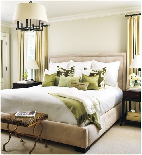 style at home master bedroom green throw