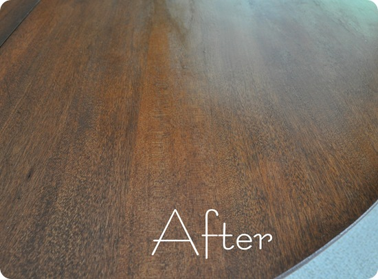table after restained