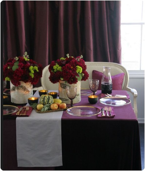 aubergine cranberry tabletop hgtv