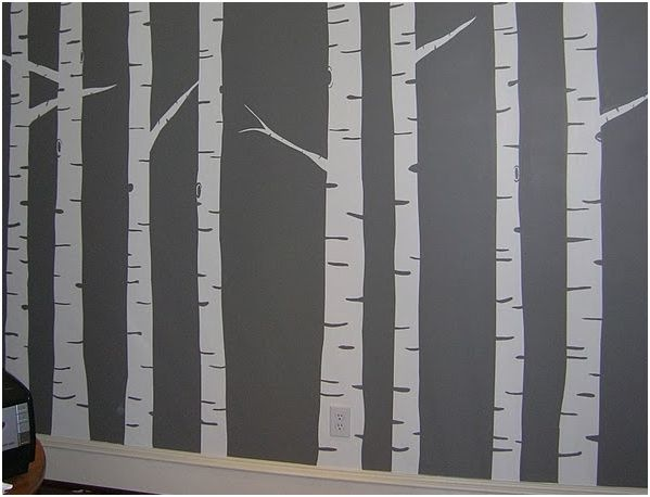 Botb centsational girl for Birch trees mural