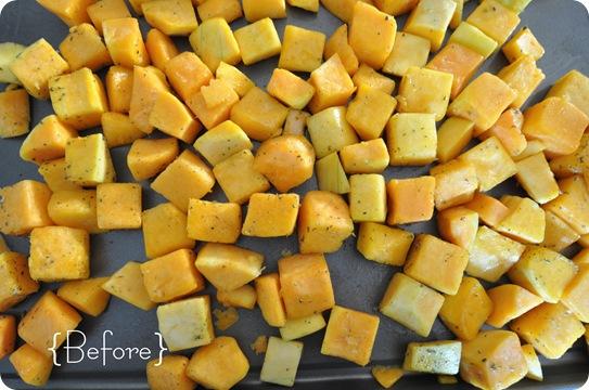 cubed butternut squash raw