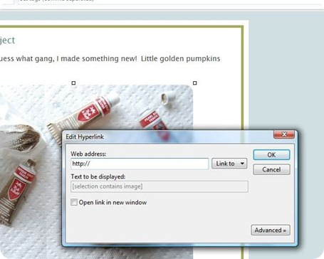 how to add hyperlink to image in word