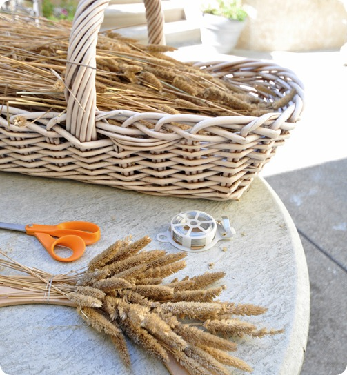 grass wreath how to