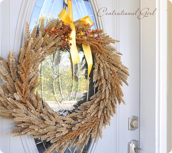 natural grass wreath front door cg