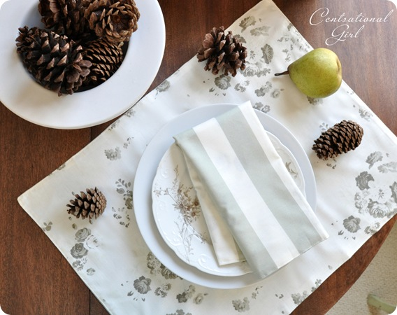 reversible cloth placemat napkin cg