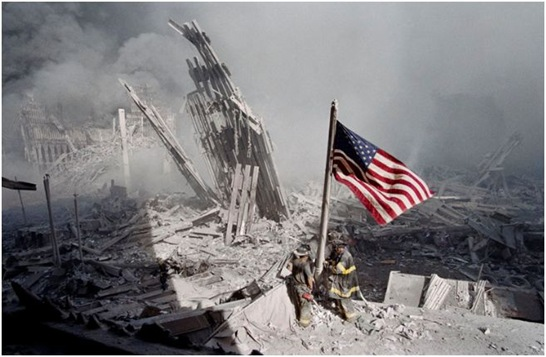 world trade center us flag
