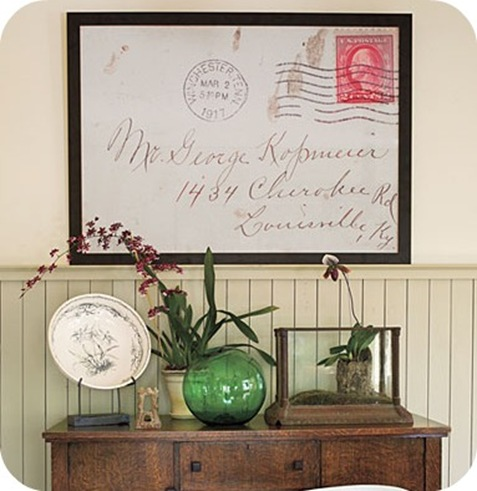 Southern Living large framed envelope