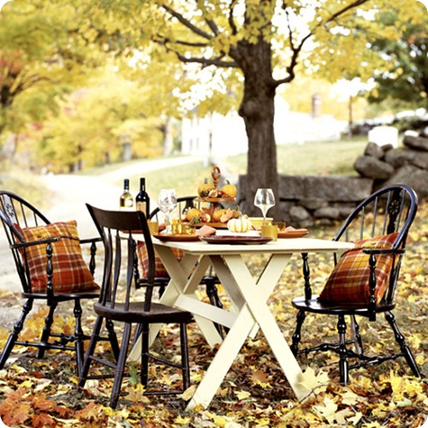 country home outdoor table