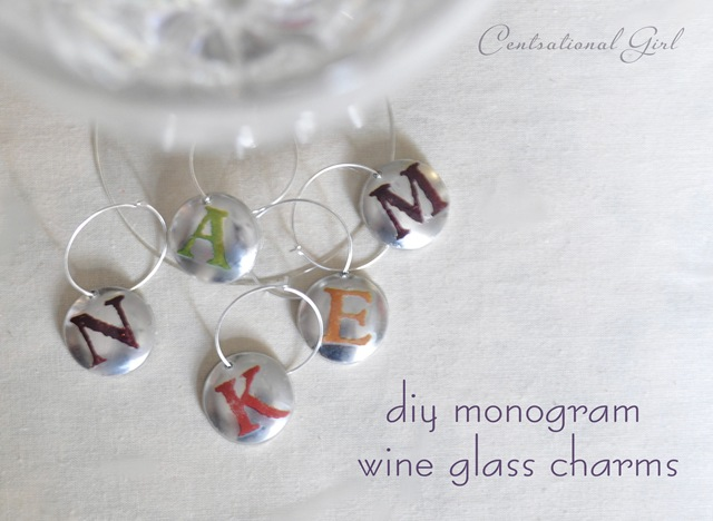 Diy Personalized Wine Glasses Diy Monogram Wine Glass Charms