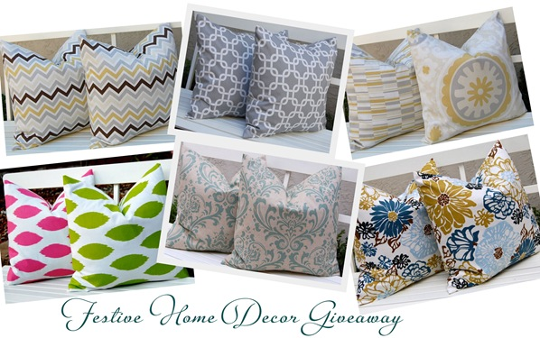 festive home decor giveaway