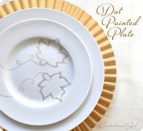 gold dot painted plate cg