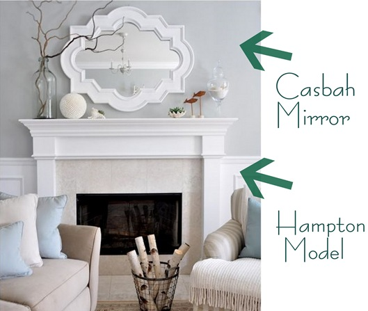 kates mirror and mantel