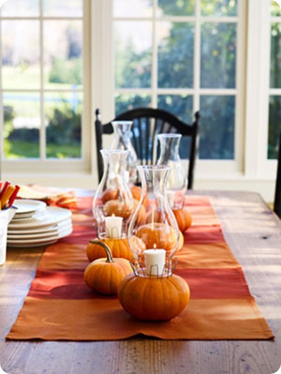 low tablescape good housekeeping