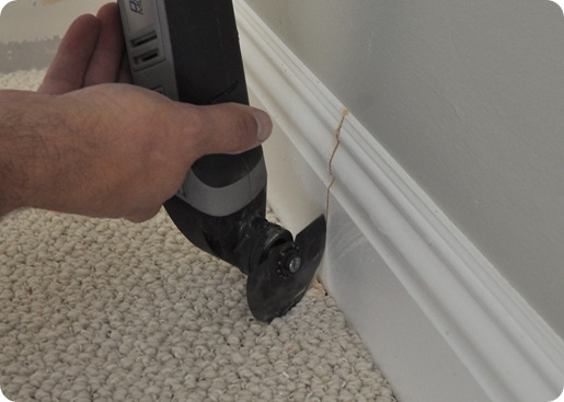 miter baseboard with dremel