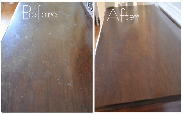 restor a finish top before and after