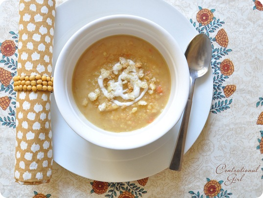 spicy yellow split pea soup