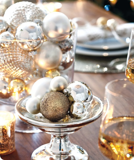 style at home christmas table bling