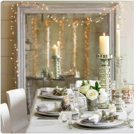 twinkle light tablescape
