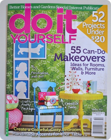 diy magazine cover winter