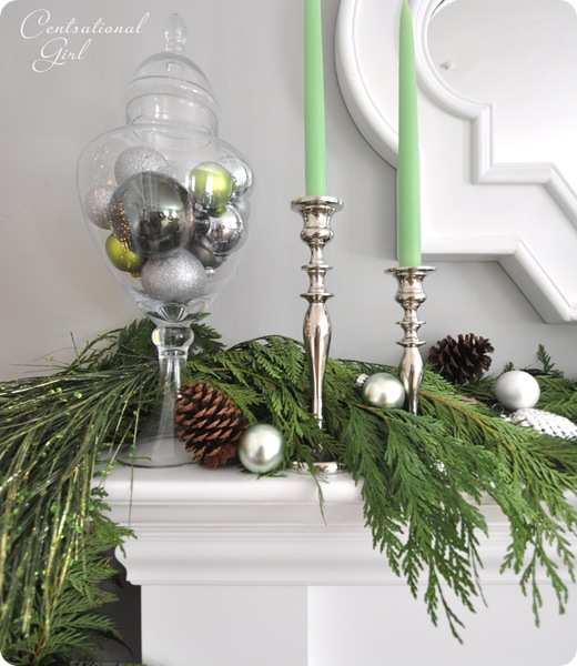 garland on mantel