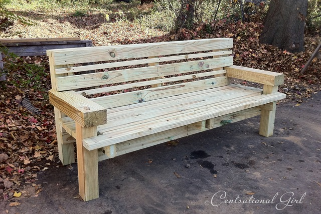 wood benches for a community outdoor gathering space. They looked
