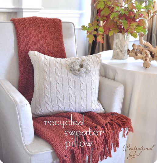 recycled sweater pillow cg