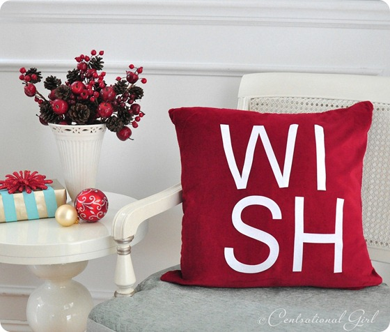 red wish pillow cg