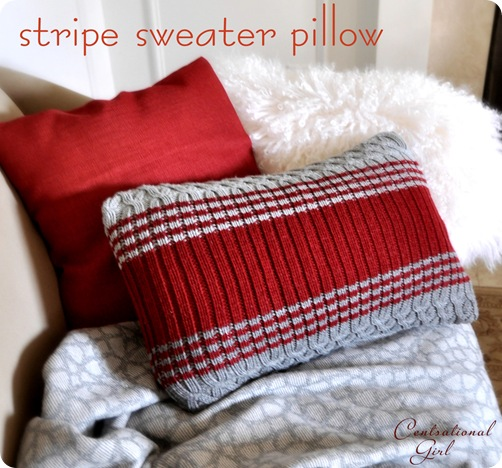 stripe sweater pillow cg
